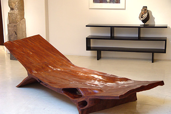 Giant Trunk Slice Table and Other Organic Furniture